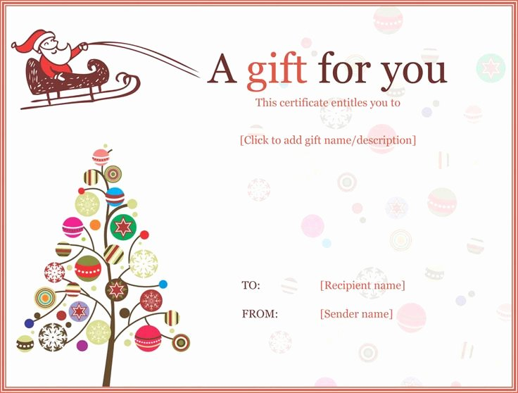 Magazine Subscription Gift Certificate Template Fresh Christmas Ball Trees Gift Certificate Template