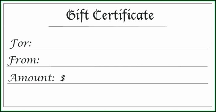 Magazine Subscription Gift Certificate Template Lovely Blank Gift Vouchers Templates Free Template 1 Resume