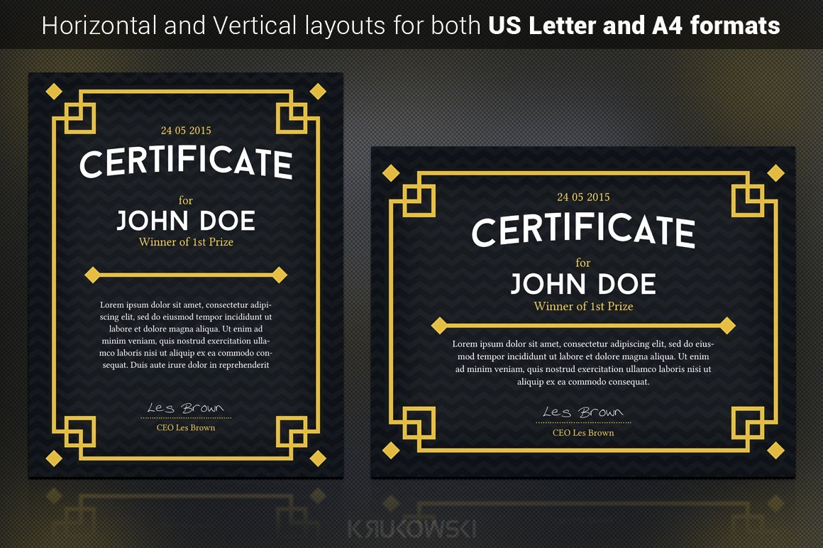Magazine Subscription Gift Certificate Template Lovely Dark Certificate Template Stationery Templates