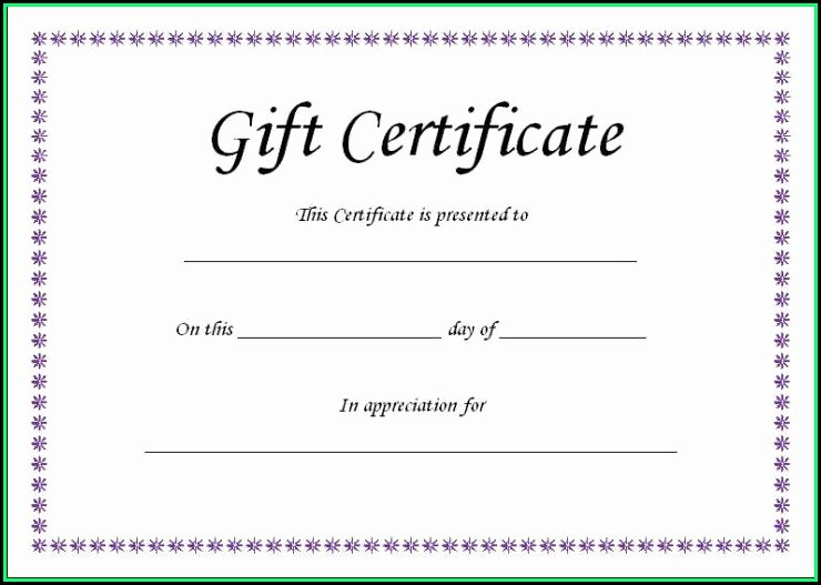 Magazine Subscription Gift Certificate Template New Blank Gift Certificate Template Free Template 1 Resume