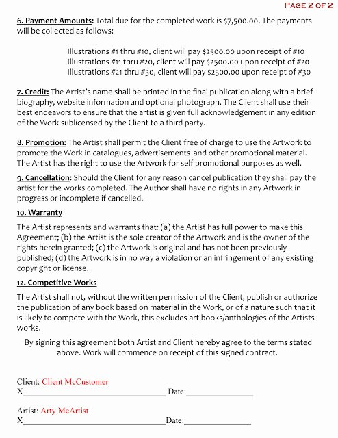 Makeup Artist Contract Pdf Inspirational 15 Of Freelance Artist Contract Template