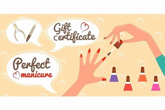 Mani Pedi Gift Certificate Template Beautiful Gift Certificate Perfect Manicure Gift Voucher Design