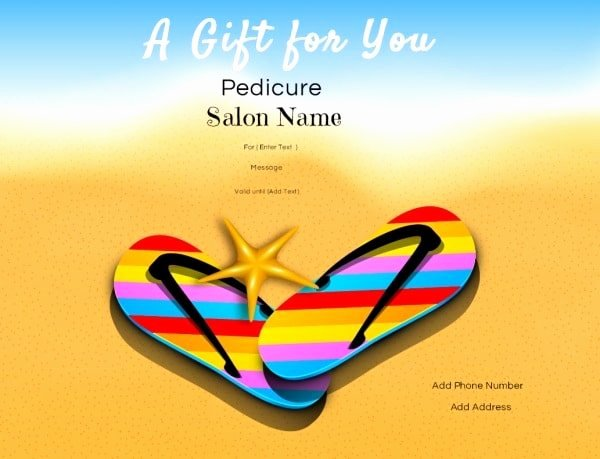Manicure Gift Certificate Template Elegant Nail Salon Gift Certificates Free Nail Salon Gift