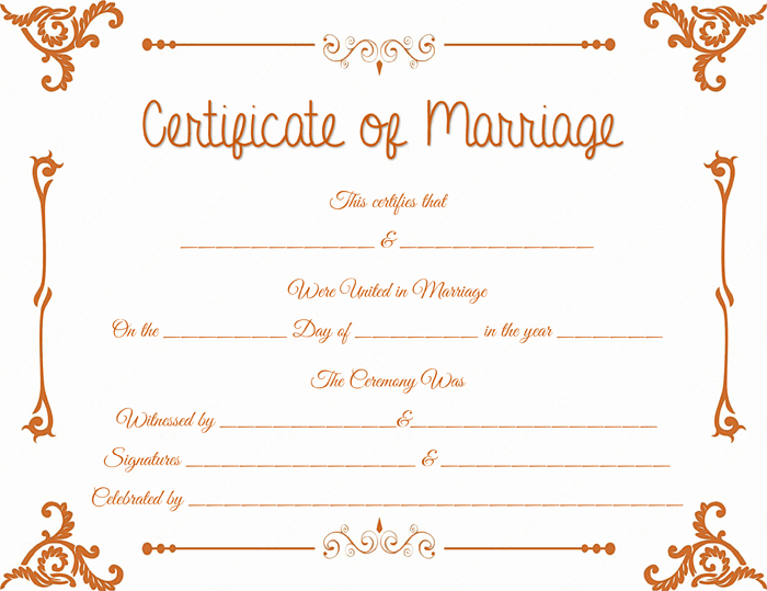 Marriage Certificate Template Microsoft Word Awesome Floral Corner Marriage Certificate Template Dotxes