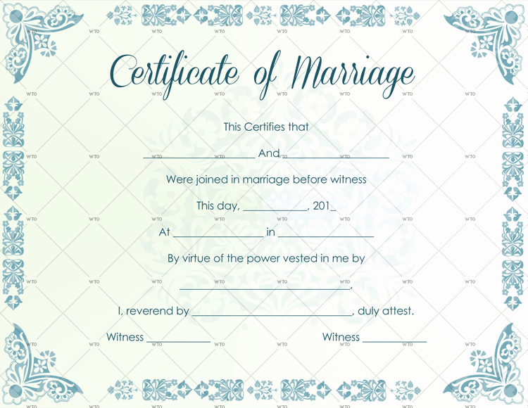Marriage Certificate Template Microsoft Word Beautiful 60 Marriage Certificate Templates for Microsoft Word