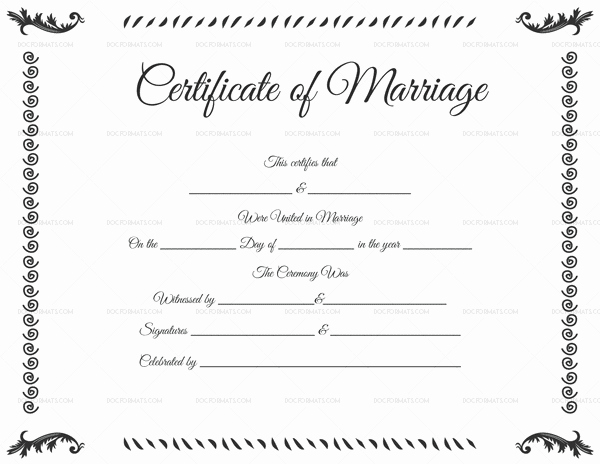 Marriage Certificate Template Microsoft Word Beautiful Marriage Certificate Template 22 Editable for Word