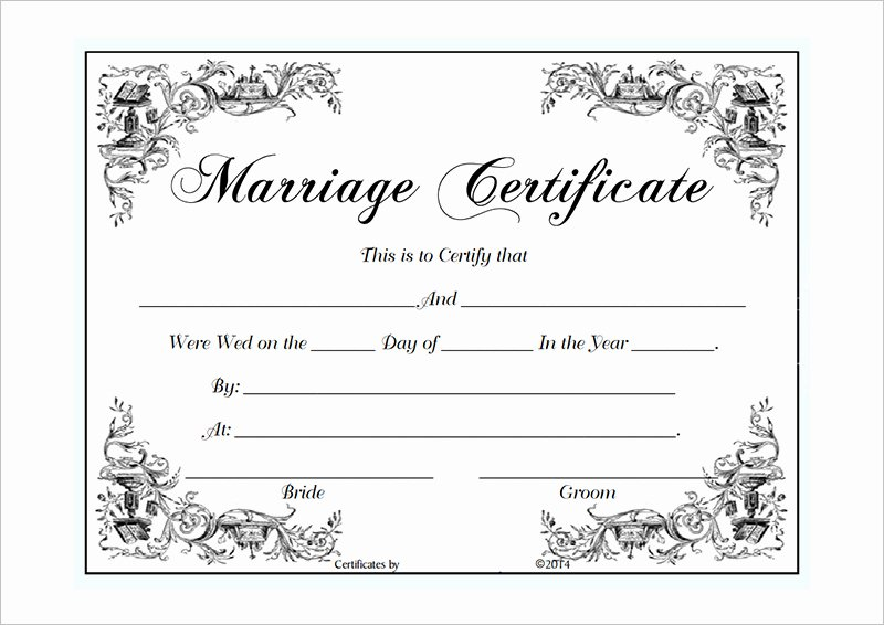 Marriage Certificate Template Microsoft Word Inspirational Blank Certificate Template