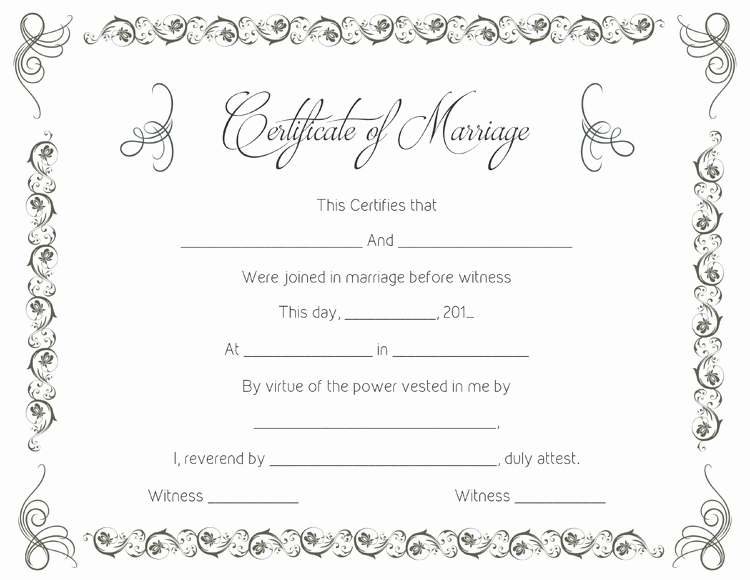 Marriage Certificate Template Microsoft Word Inspirational Marriage Certificate Template 22 Editable for Word