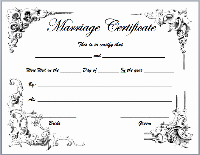 Marriage Certificate Template Microsoft Word Lovely Marriage Certificate Template Microsoft Word Templates