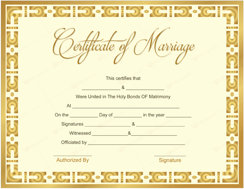 Marriage Certificate Template Microsoft Word Luxury 10 Beautiful Marriage Certificate Templates to Try This Season