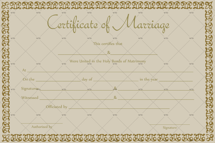 Marriage Certificate Template Microsoft Word Luxury 60 Marriage Certificate Templates for Microsoft Word