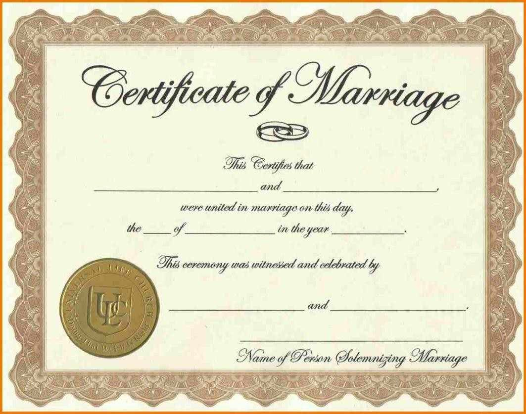 Marriage Certificate Template Microsoft Word Unique Certificate Templates Sample Marriage Certificates