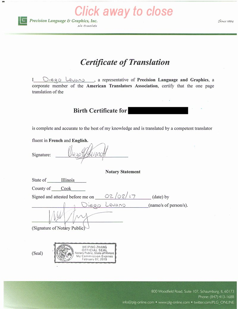Marriage Certificate Translation Template Spanish to English Awesome Birth Certificate Translation Services Precision