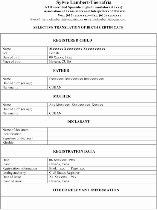 Marriage Certificate Translation Template Spanish to English Beautiful Templating as A Strategy for Translating Ficial… – Meta