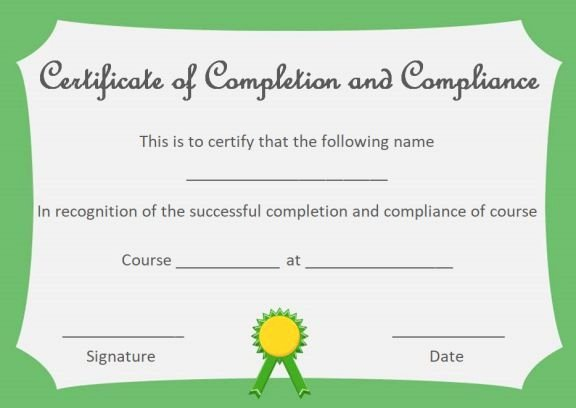 Marriage Counseling Certificate Template Awesome Certificate Of Pletion and Pliance Template