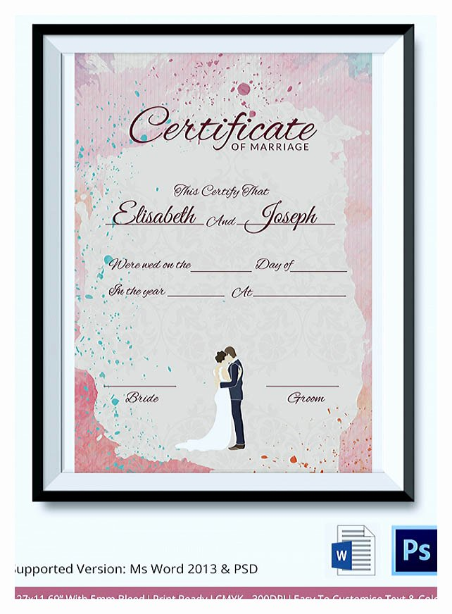 Marriage Counseling Certificate Template Beautiful Designing Using Marriage Certificate Template for Your Own