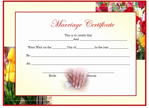 Marriage Covenant Certificate Template Awesome Marriage Certificate Template Of Marriage Certificate