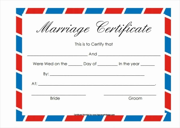Marriage Covenant Certificate Template Beautiful 17 Printable Marriage Certificate