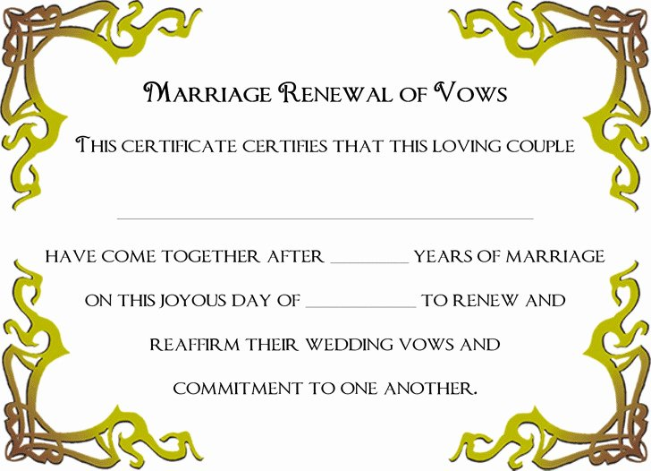Marriage Covenant Certificate Template Elegant 4 Marriage Certificate Free Download