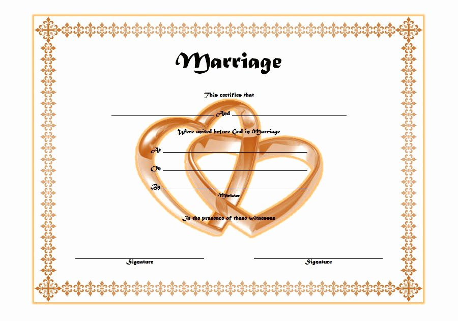 Marriage Covenant Certificate Template Elegant Marriage Certificate Editable Template 3