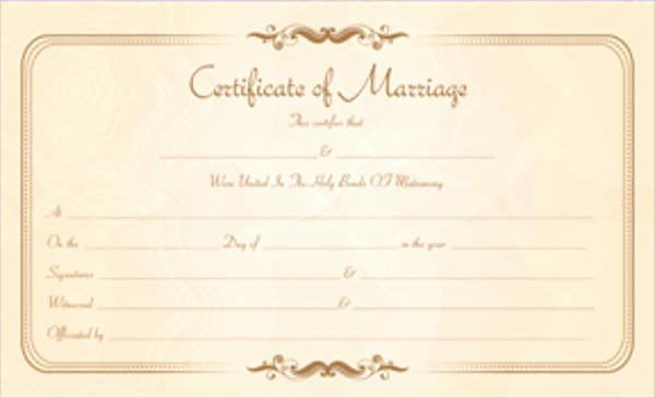 Marriage Covenant Certificate Template Fresh 17 Printable Marriage Certificate