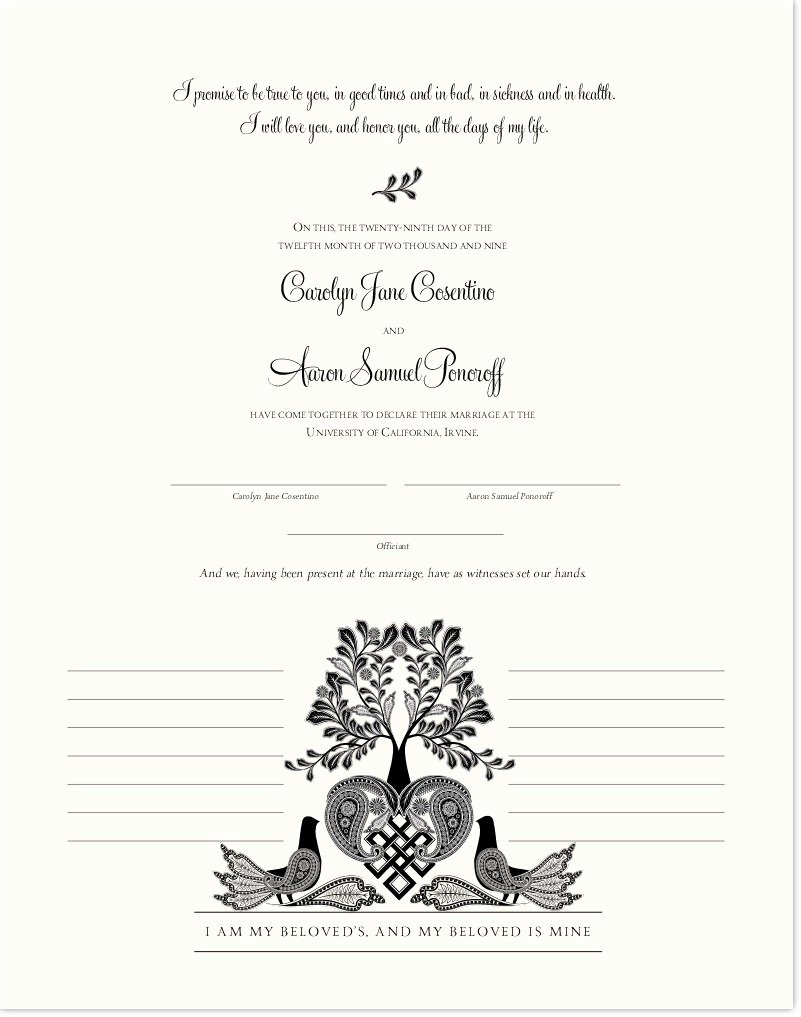 Marriage Covenant Certificate Template Luxury Love Dove Wedding Certificate Tree Of Life Marriage