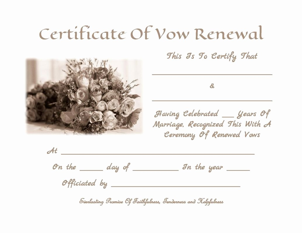 Marriage Covenant Certificate Template Luxury Pin by Tia Hughes On Vowel Renewal