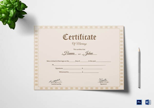 Marriage Covenant Certificate Template New 17 Printable Marriage Certificate