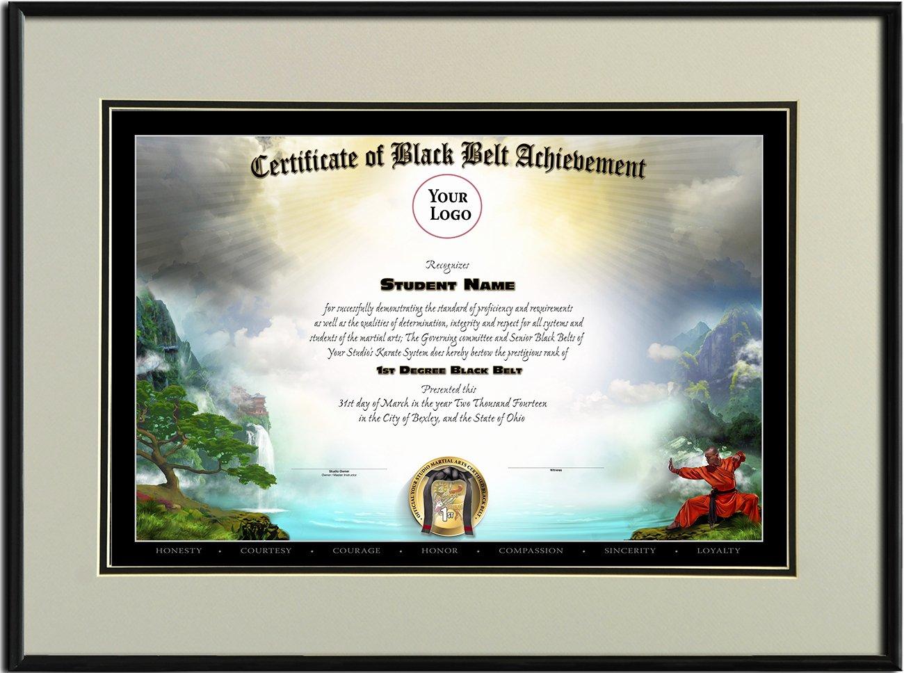 Martial Arts Certificate Creator Program Elegant Black Belt Templates Martial Arts Certificates