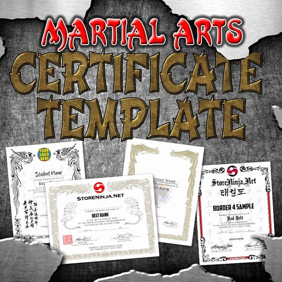 Martial Arts Certificate Creator Program Lovely Certificate Template Martial Arts Custom Taekwondo Karate