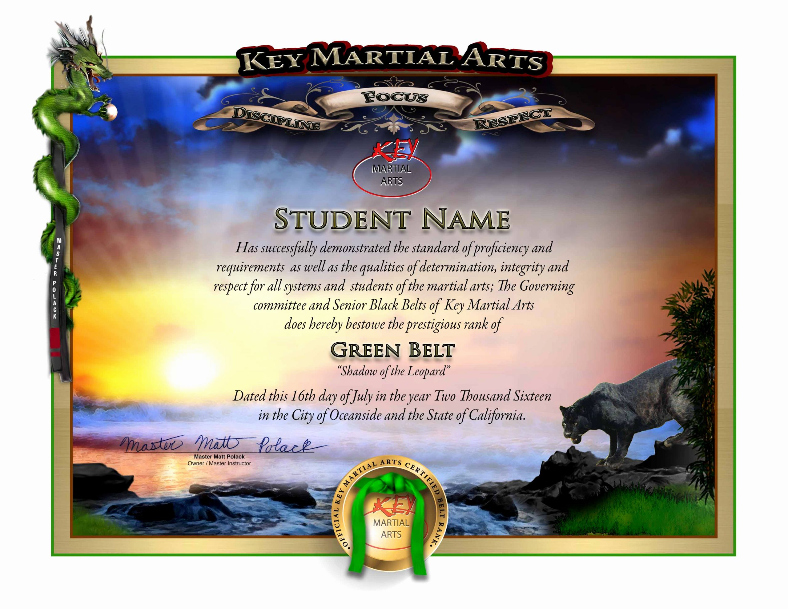 Martial Arts Certificate Maker Inspirational Make An Impact On Your Martial Arts Students with Awards