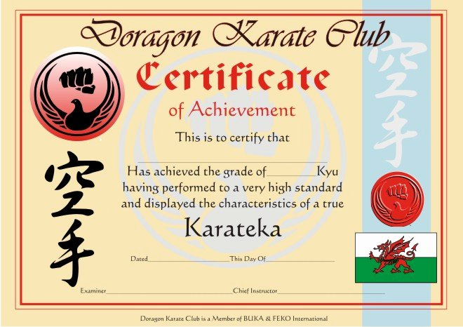 Martial Arts Certificate Maker New 28 Of Martial Arts Certificate Achievement