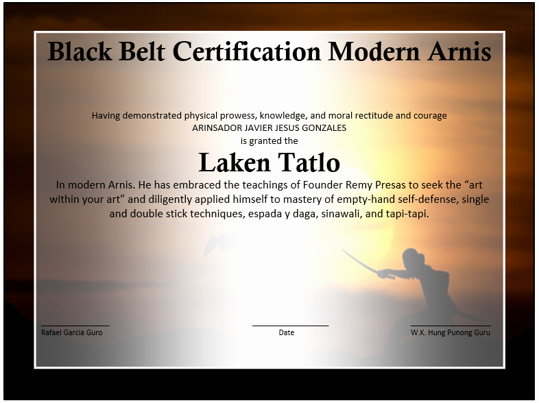Martial Arts Certificate Template Awesome Martial Arts event Winner Certificate Template Free