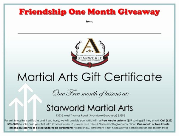 Martial Arts Certificate Template Best Of Download Martial Arts Gift Certificate Template for Free