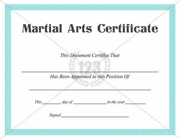Martial Arts Certificates Free Inspirational Best Martial Arts Certificate Templates for Free Download
