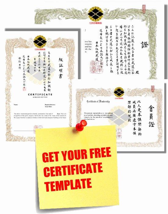 Martial Arts Certificates Free Unique Free Martial Arts Certificates Download Samtopp