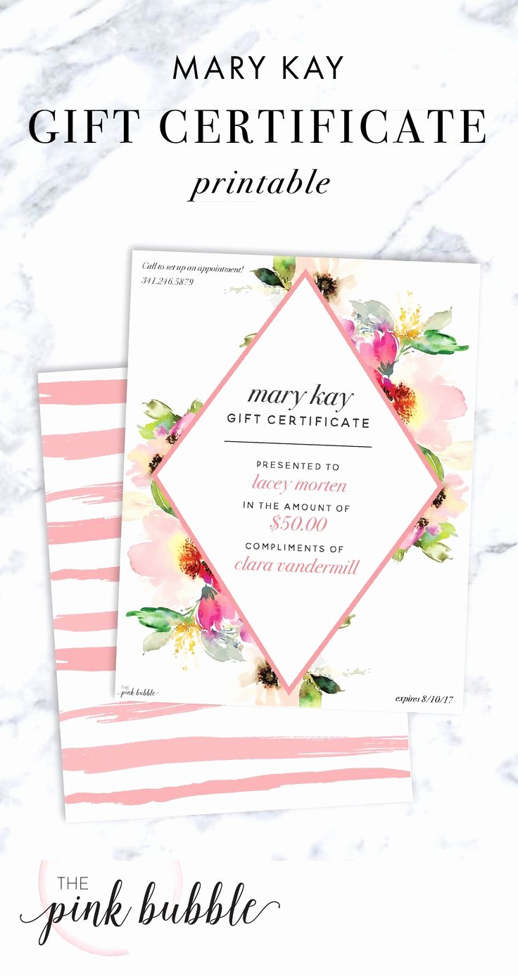 Mary Kay Gift Certificate Template Beautiful 25 Best Sales Ideas Images On Pinterest