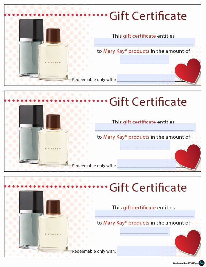 Mary Kay Gift Certificate Template Elegant 17 Best Images About Gift Certificates On Pinterest