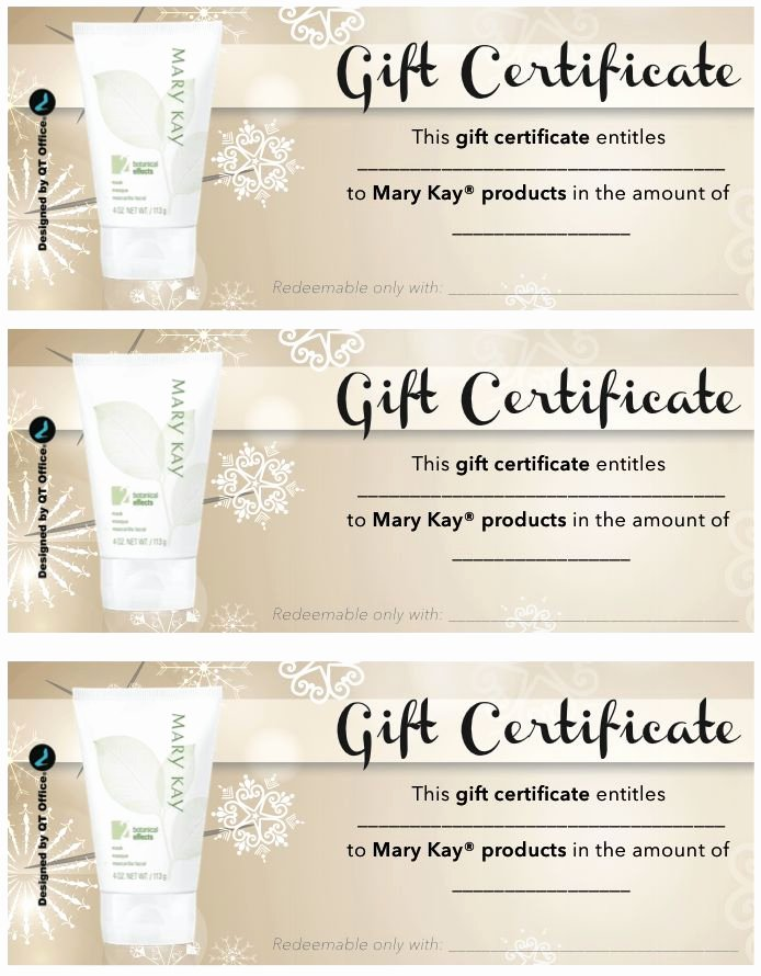 Mary Kay Gift Certificate Template Free Download Elegant Best 25 Gift Certificates Ideas On Pinterest