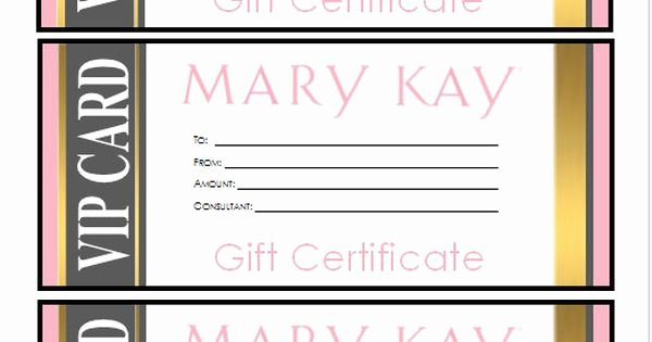 Mary Kay Gift Certificate Template Free Download Fresh Mary Kay Gift Certificate Download Gold Vip Style by