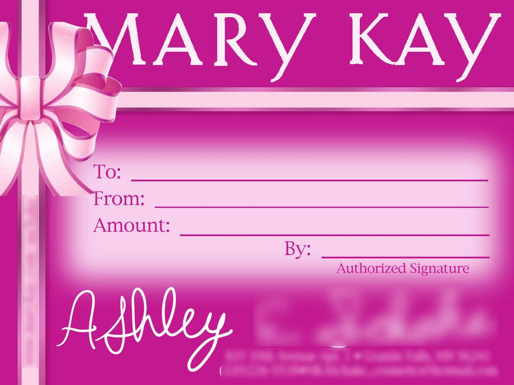 Mary Kay Gift Certificate Template Fresh Gift Certificate Mary Kay