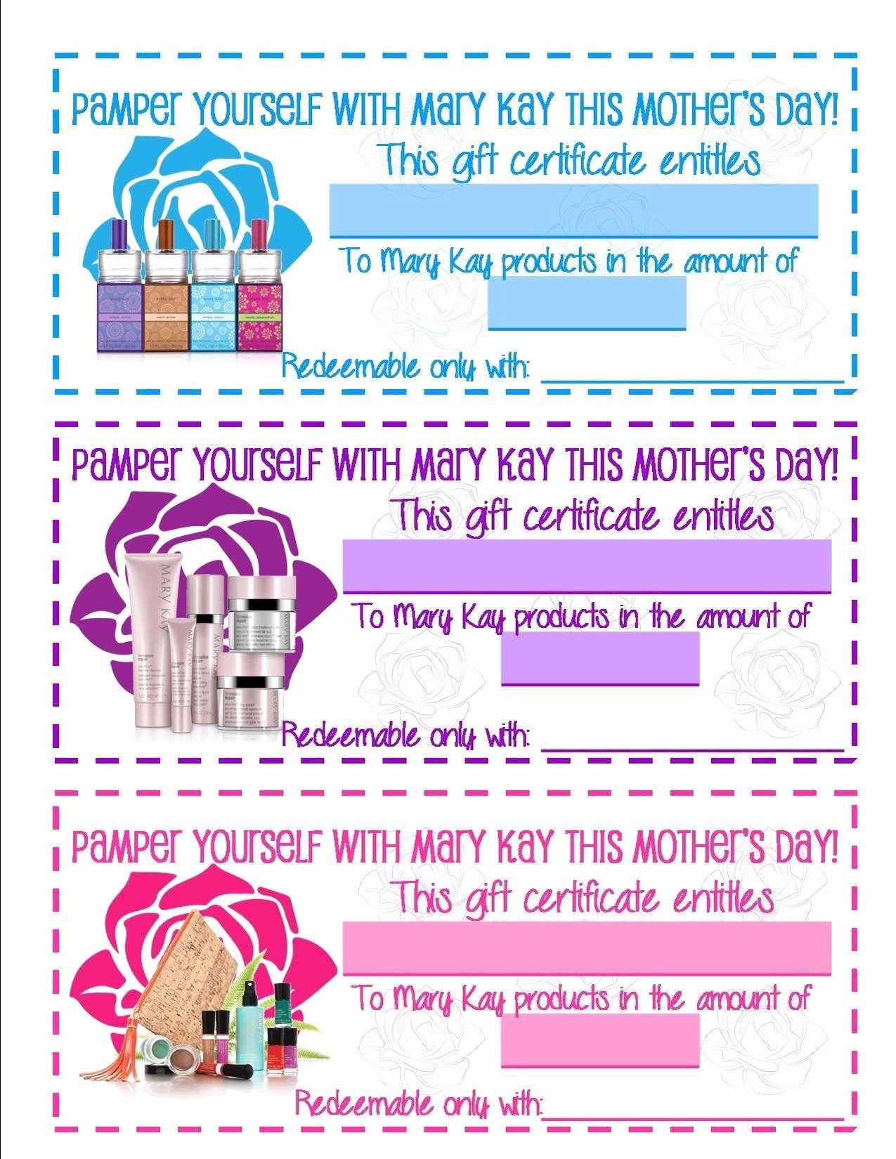 Mary Kay Gift Certificate Template Fresh Pin by Jessica Bennett On Mary Kay