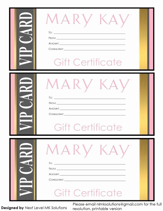 Mary Kay Gift Certificate Template Fresh Pinterest • the World's Catalog Of Ideas