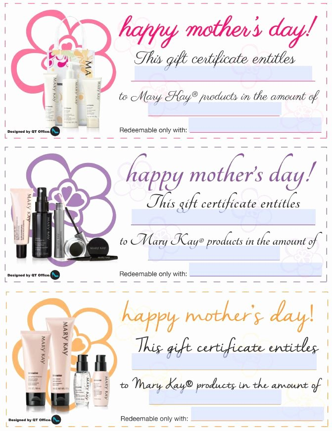 Mary Kay Gift Certificate Template Lovely 37 Best Images About Mary Kay Gift Certificates On