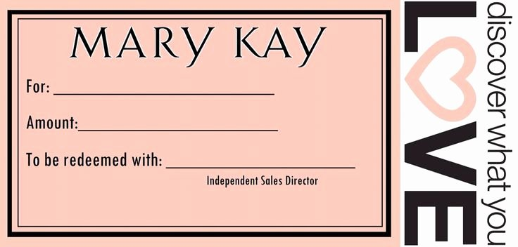 Mary Kay Gift Certificate Template Luxury 25 Best Ideas About Gift Certificates On Pinterest