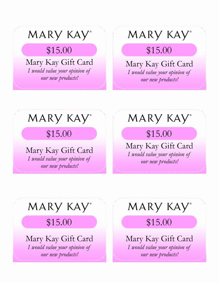 mary kay t certificates