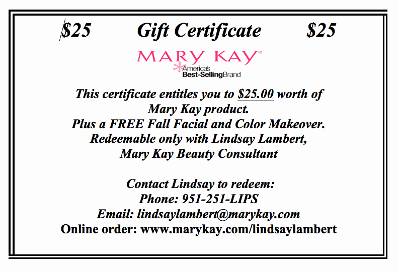 Mary Kay Gift Certificate Template New Insane for Ukraine November 2012