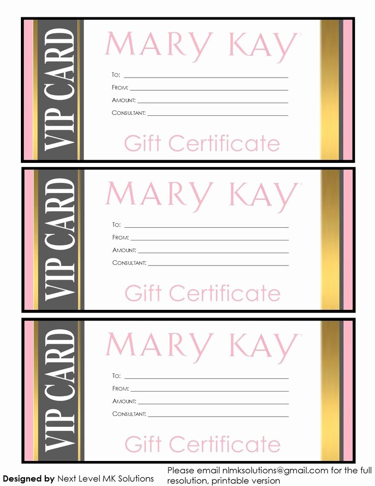 Mary Kay Gift Certificate Template Unique 17 Best Images About Business Ideas On Pinterest