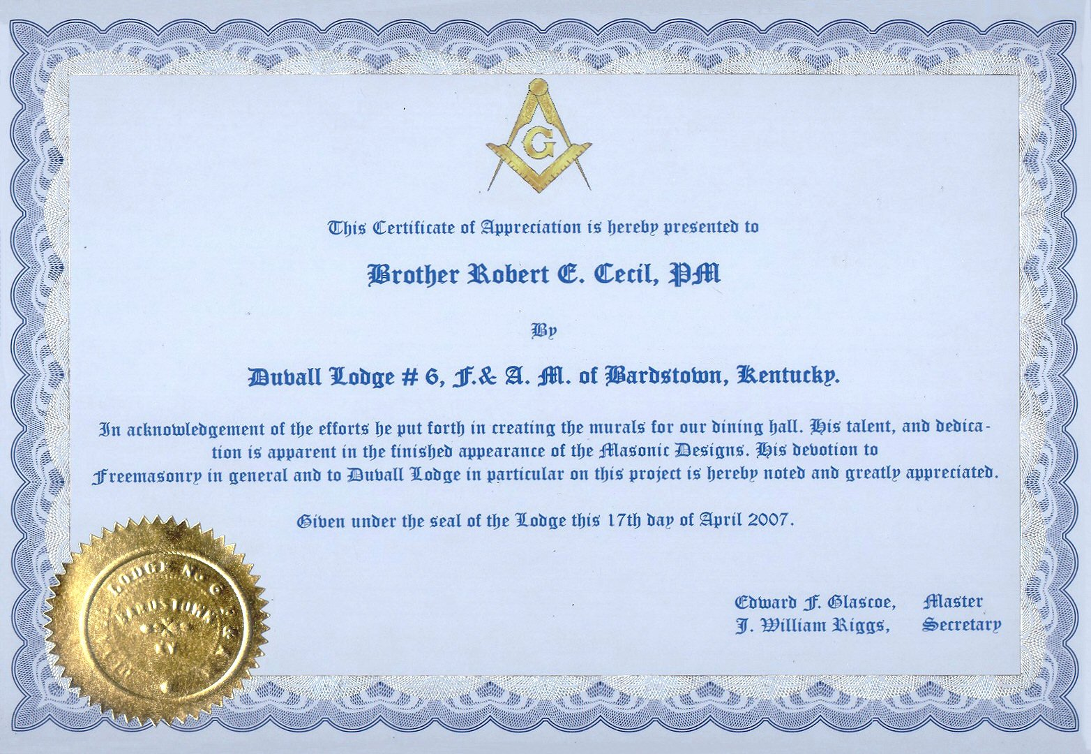 Masonic Certificate Of Appreciation Fresh Masonic Certificate Template Free