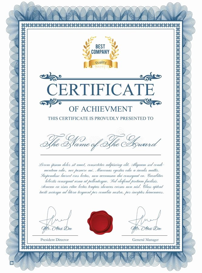 Masonic Certificate Of Appreciation Template Beautiful Download Certificate Template with Guilloche Elements